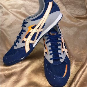 ASICS Track Cross Country Blue & Orange Shoes